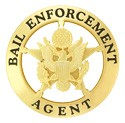 Bail Enforcement Star Badge (Gold)