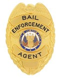 Bail Enforcement Agent Eagle Top Badge