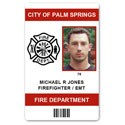 Fire Department EMT PVC ID Card