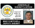 Sheriff's Department PVC ID Card
