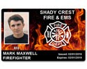 Fire Department EMS PVC ID Card