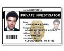 Private Investigator PVC ID Card PFP022