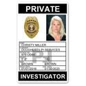 Private Investigator PVC ID Card PFP024