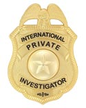 International Private Investigator Badge