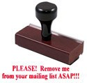 Remove From Mail List Stamp
