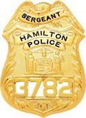 3.14 inch Eagle Top Smith & Warren Badge S121