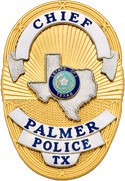 3.5 inch Oval Smith & Warren Police Badge S36TX