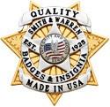 2.88 inch 7 Point Star Smith & Warren Badge S570B