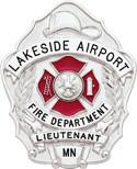 3 inch Fire Dept Smith & Warren Badge S632E