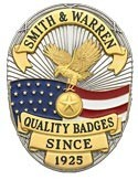 3.375 inch Oval Smith & Warren Badge S642