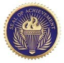 Seal of Achievement Blue 12 Pcs