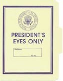Presidents Eyes Only File Folder 5-Pack
