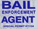 Bail Enforcement Windshield Static Cling Pass