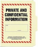 Private And Confidential Information File Folder 5-Pack