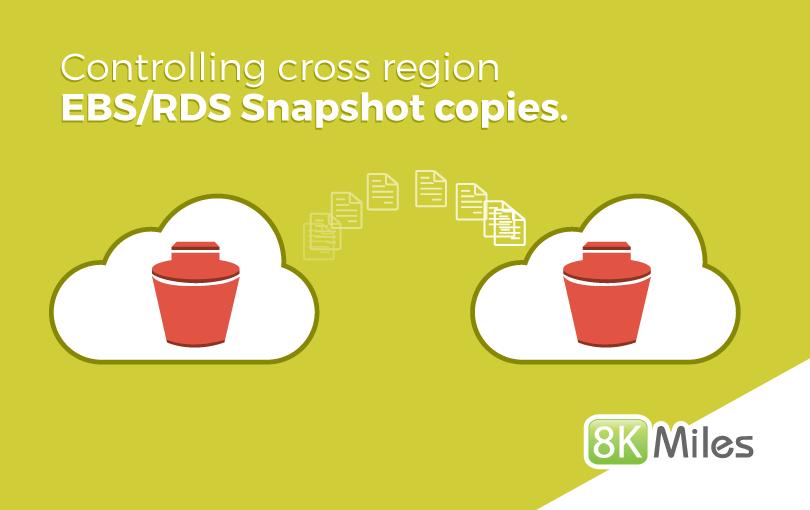 Controlling cross region EBSRDS Snapshot copies
