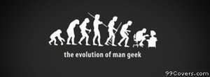 evolution of geek Facebook Cover