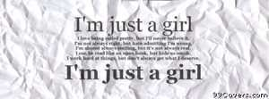 just a girl Facebook Cover Photo