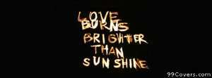 love sunshine Facebook Cover Photo