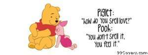 pooh bear quote Facebook Cover