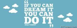 walt disney dream Facebook Cover Photo