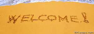 welcome sand Facebook Cover Photo