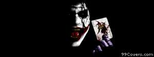 Joker batman dark knight heath ledger movie movies Facebook Cover