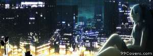 Hatsune miku by the window Facebook Cover