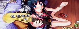 Anime bassist Facebook Cover Photo
