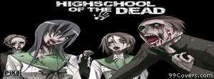 Anime highschool of the dead zombies school girl Facebook Cover Photo