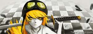 Yellow hair anime girl Facebook Cover