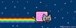 nyan cat 4 Facebook Cover Photo