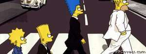 simpsons beatles Facebook Cover Photo