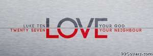 bible love quote Facebook Cover