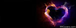 fire heart Facebook Cover Photo