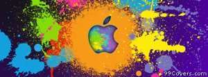 apple paint logo Facebook Cover