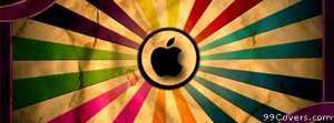 colorful apple logo Facebook Cover Photo