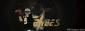 drew brees new orlean saints Facebook Cover