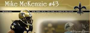 mike mckenzie new orleans saints Facebook Cover Photo