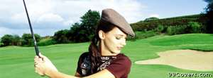 woman golfing Facebook Cover Photo