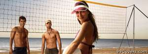 beach volleyball Facebook Cover Photo