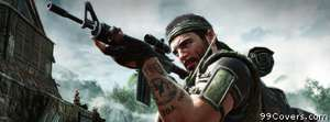 Call of Duty Black Ops frank woods at vietnamese v Facebook Cover Photo