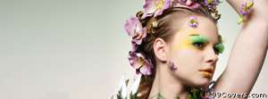 new fashion flower girl Facebook Cover Photo