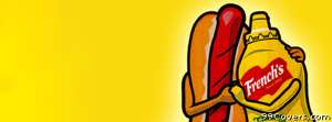 cartoon hotdog mustard friends Facebook Cover Photo