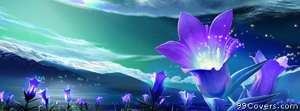 abstract purple flowers Facebook Cover Photo