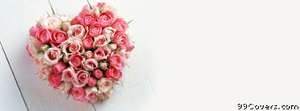 heart bouquet Facebook Cover Photo