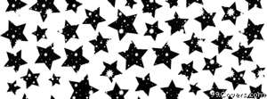 black and white stars pattern Facebook Cover Photo