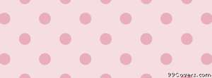 cute pink polka dots Facebook Cover Photo