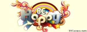 be happy custom font Facebook Cover Photo