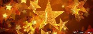 gold stars Facebook Cover Photo