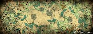 grunge floral pattern Facebook Cover Photo